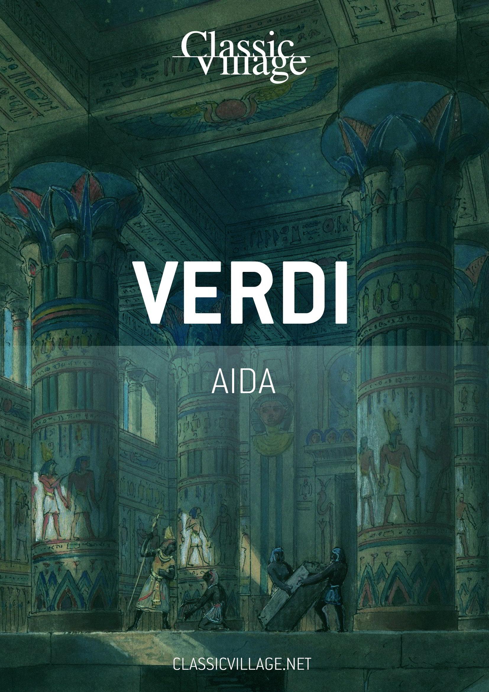 Copertina libretto Aida, opera di Giuseppe Verdi