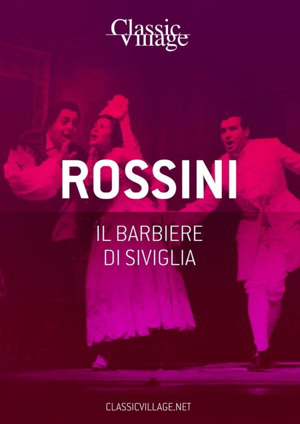 """Copertina libretto d'opera """"il barbiere di Siviglia"""" di Rossini"""